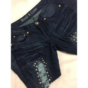 Rock & Love • Blue Denim Skinny Jeans Size 5